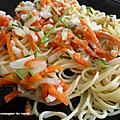 Spaghettis aux petits légumes ww