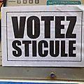 Votez sticule… !
