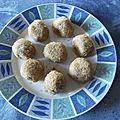 Bouchées sablées au noix