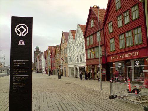 Les Bryggen Houses, classifiées par l'Unesco comme patrimoine historique