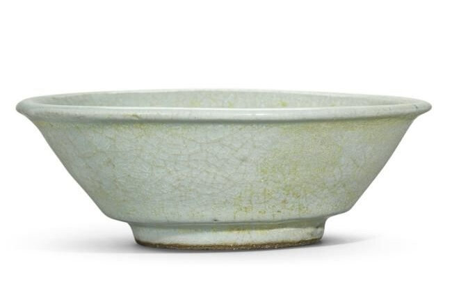 Lot 44. A Guan-type bowl, Song Dynasty (960-1279); 12.7cm., 5in, diam. Estimate 6,000—8,000 GBP. Lot Sold 6,250 GBP. Photo Sotheby's