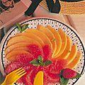 Melon-pemplemousse au montbazillac.
