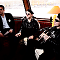 Proxima in a boat on the seine (paris) during a french tv interview