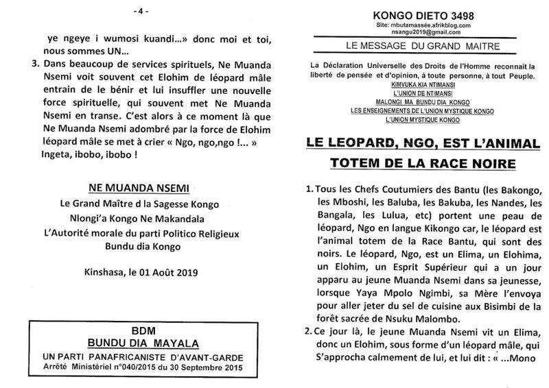 LE LEOPARD NGO EST L'ANIMAL TOTEM DE LA RACE NOIRE a