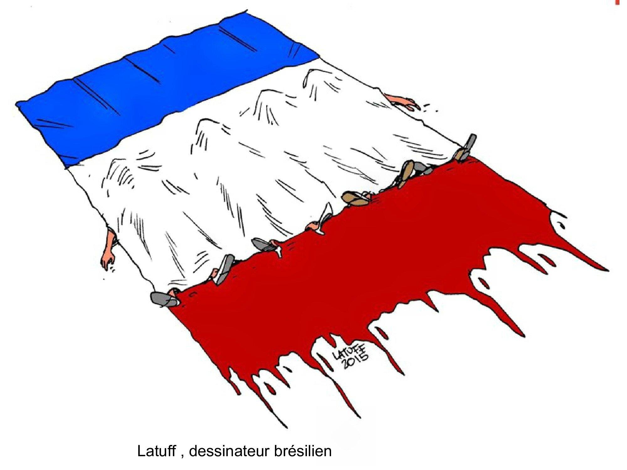 HOMMAGE des dessinateurs aux victimes des attentats de Paris 13 novembre 2015 (27)