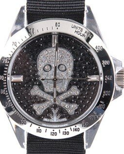 Toy Watch - Crystal skull watch for men