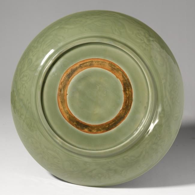 An Imperial Longquan Celadon Dish Ming Dynasty Yongle Period