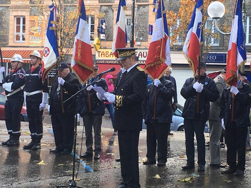 Gilles Traimont_sous-préfet_armistice_Grande Guerre_Avranches_2019_11 novembre_place Littré