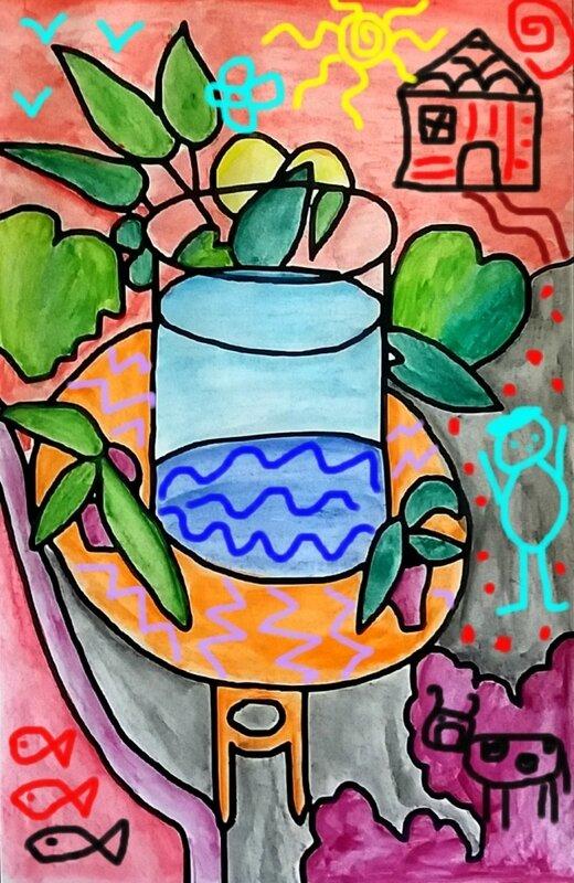 253_Compositions abstraites_Les poissons de Matisse (24 e)