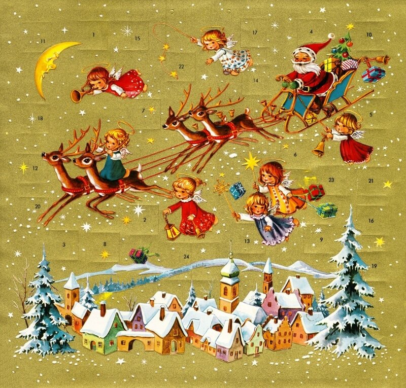 Adventskalender Père Noël & Anges 1960