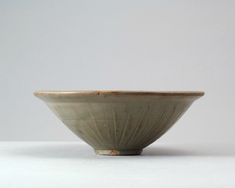 Greenware bowl with floral decoration, China, Henan province or Shaanxi province, 11th - 12th century