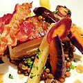 Pork belly with puy lentils and heirloom carrots - poitrine de porc, lentilles du puy et carottes anciennes