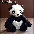 bamboo, le doudou panda vintage
