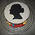 Gâteau silhouette mariana