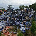 Dambach-la-ville : un camion perd son chargement