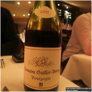 Bourgogne Domaine Guillot Broux 2011