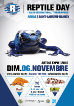 Affiche 2016 Reptile Day Salon international terrariophile, Saint Laurent Blangy, Arras