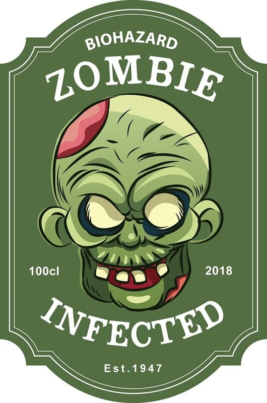 label halloween virus zombie infected +