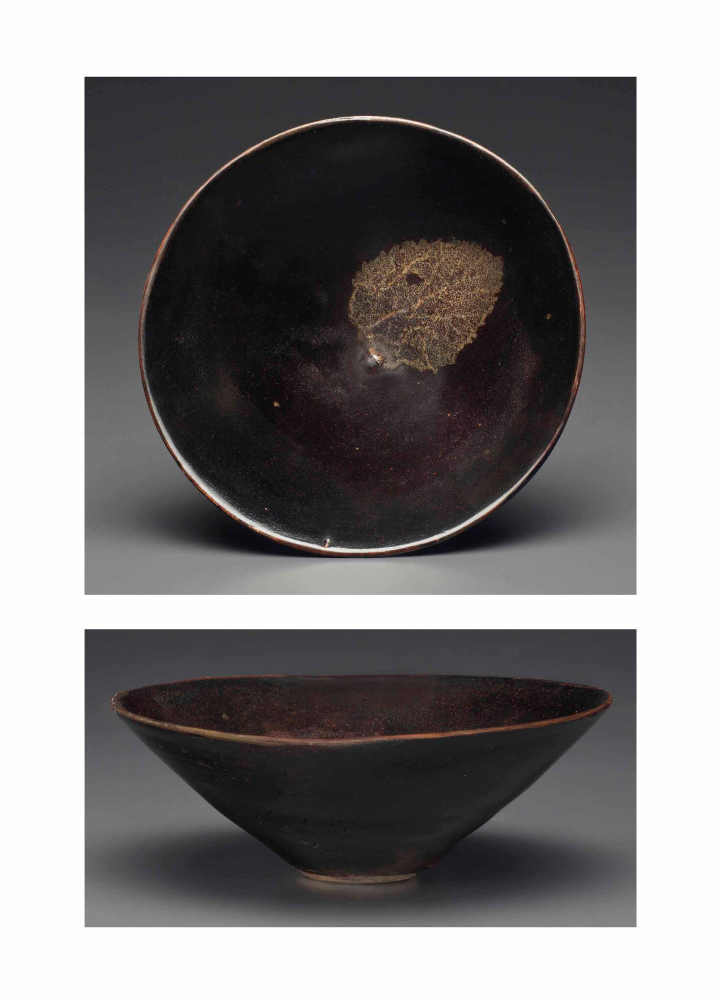 A rare Jizhou 'leaf' bowl, Southern Song dynasty, 12th-13th century