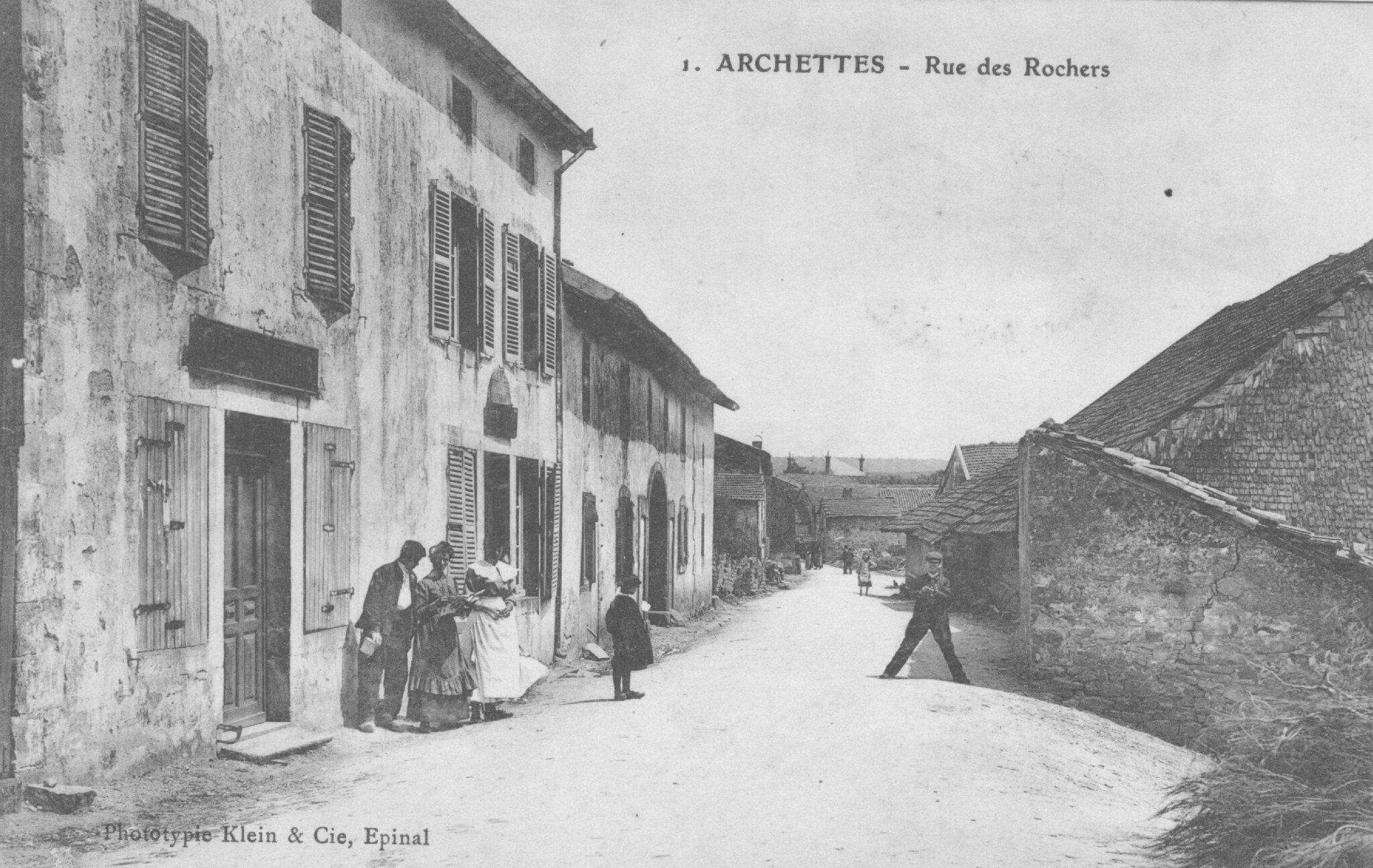 Archettes, café Francois route d'Epinal