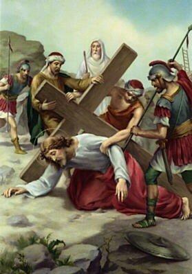 7 Jésus tombe pour la seconde fois