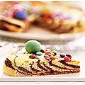 Gâteau fromager, marbré et zébré des confinés.....