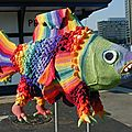 Sculpture poisson de ming yi sung au crochet.