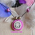 180-2 - Pendentif Hello Kitty rose