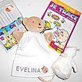 Babioles et Fanfreluches pour Evelina née le 21 février 2009