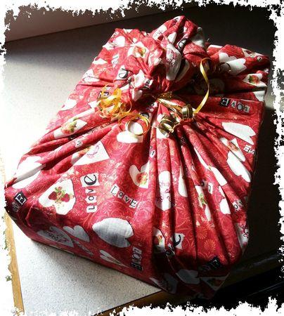 Emballage tissu coeur