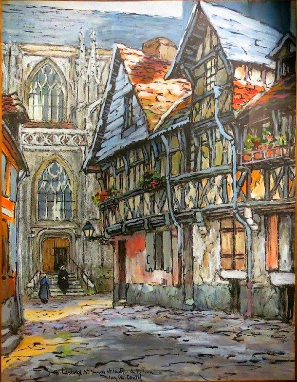 Vielles rues de Lisieux, vers 1920, Jean-Charles Contel