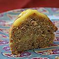 Gâteau orange et cannelle à la crème d'orange.