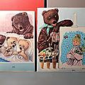 Deux livres ou albums de coloriage ortf de 1964