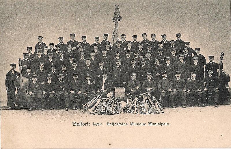 Belfort 1903X CPA Lyre Belfortaine R