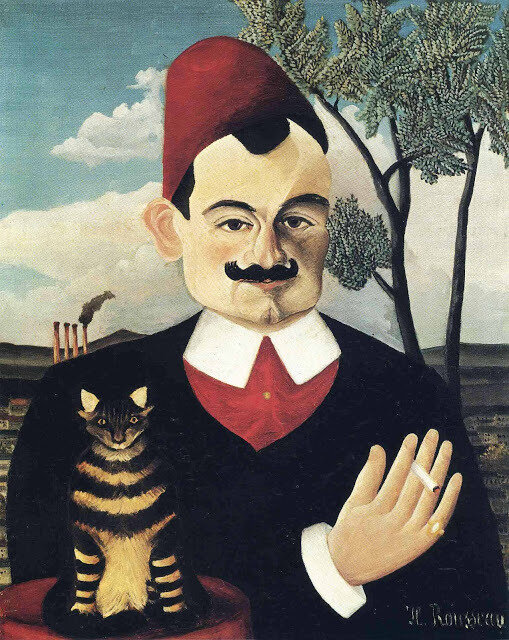 1891c Henri Rousseau Portrait of Pierre Loti oil on canvas 62 c 52 cm Kunsthaus, Zurich