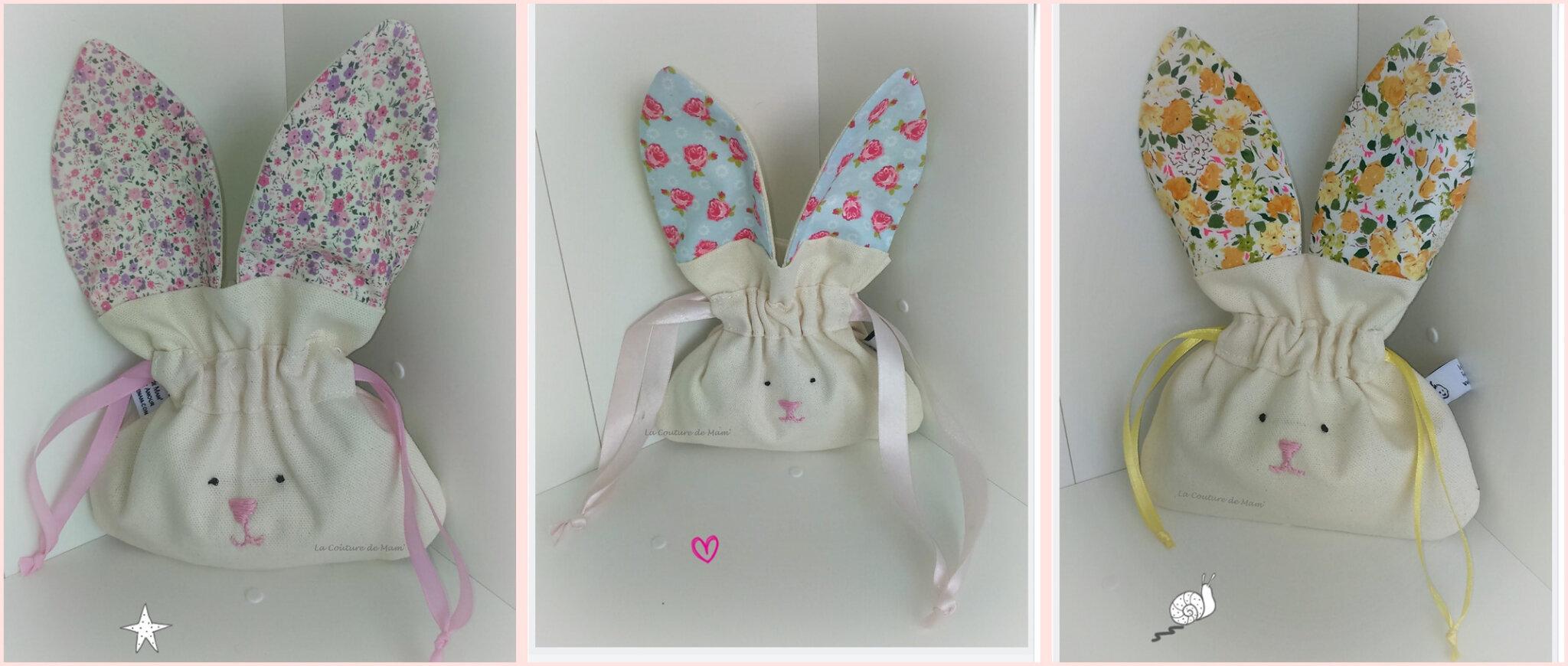 Pochons oreilles de lapin
