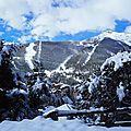 Neige en région provence alpes côte d'azur.
