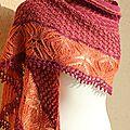 Mystery shawl kal de christallittlekitchen (christelle nihoul) - le mystère est levé !