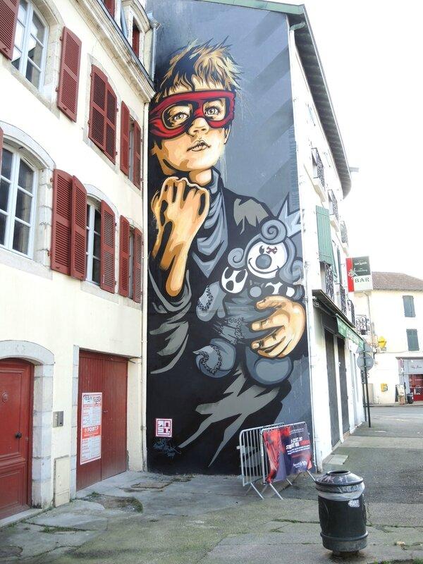 Bayonne, Street Art Point de Vue, fresque, RNST (64)