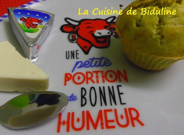 Muffin au Pesto et vache qui rit - La cuisine de Biduline