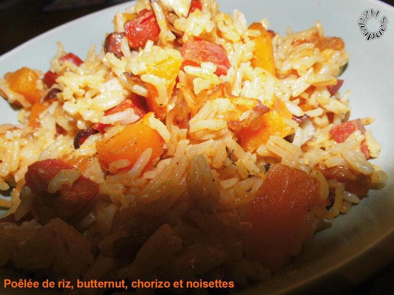 0919 Poelée de riz, butternut, chorizo et noisettes 3