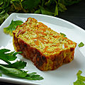 Terrine carottes courgettes curry et bacon