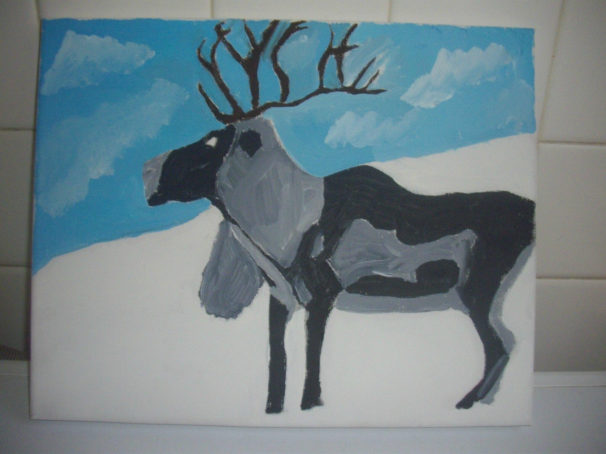 Animal dans la neige