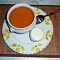 Velouté de potimarron et sa chantilly au gorgonzola