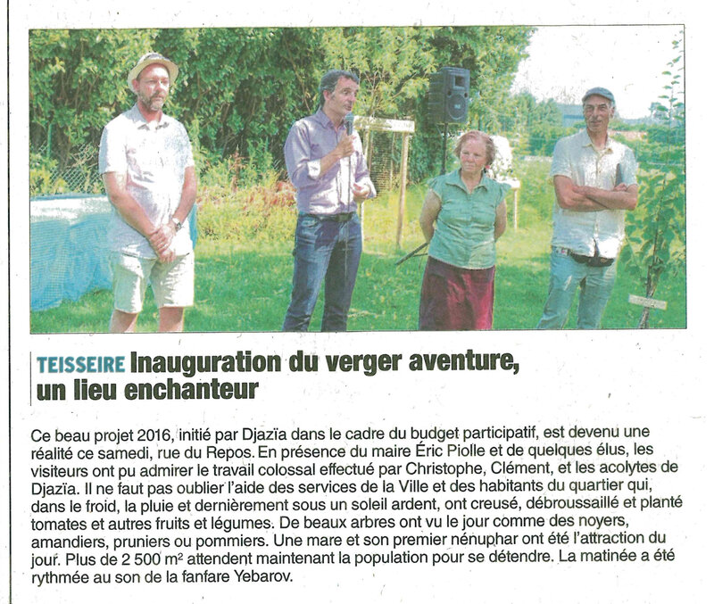 article inauguration