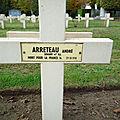 Arreteau andré albans (celon) + 29/10/1918 maechlen (belgique)
