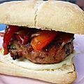 Burger de porc à l'italienne {au barbecue}