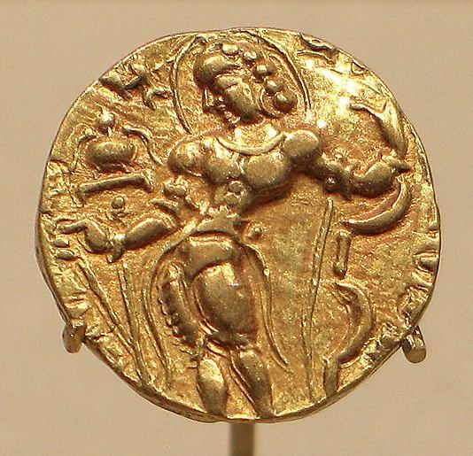 Gold Coin Showing King Kumaragupta As An Archer Gupta