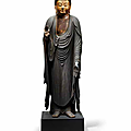 A standing figure of amida buddha, momoyama (1573-1615) or edo period (1615-1868), 17th century