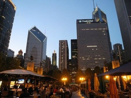 Restaurant dans le parc chicago